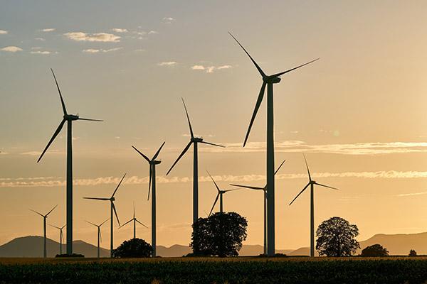 风电场黄昏景观