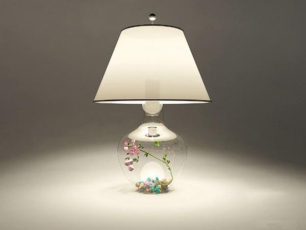 植物台灯模型