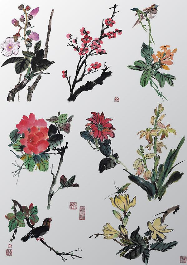 水墨中国风花卉