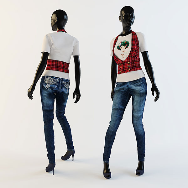 黑人女模型模型
