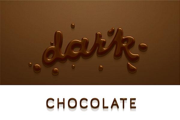 字体效果,字体样式,立体效果,质感,巧克力,喷溅,字体,字体设计,psd