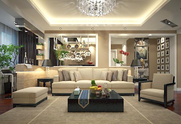 混搭客厅模型