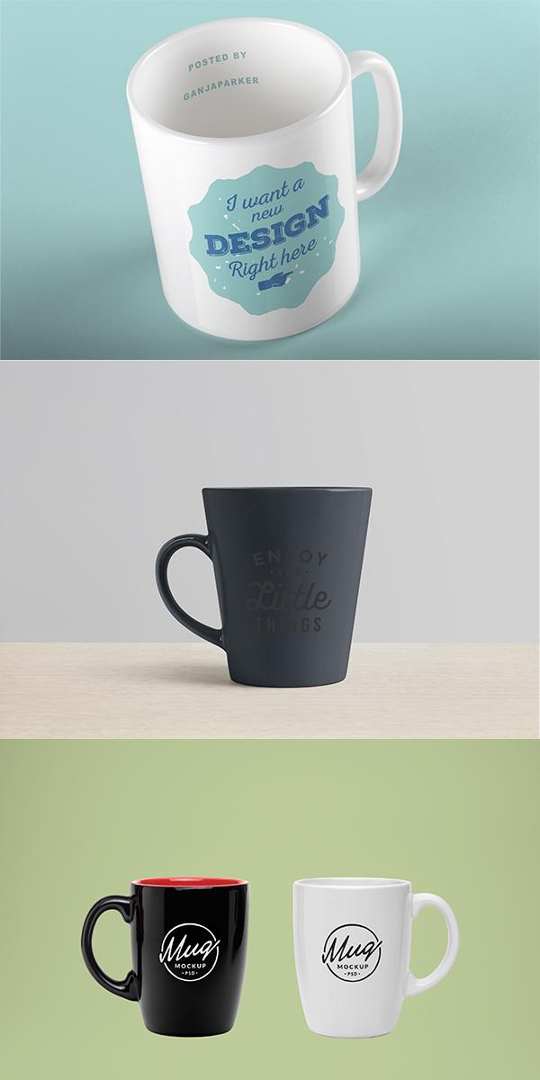 素材分类: cis设计所需点数: 0 点 关键词: 三款马克杯装饰图案效果