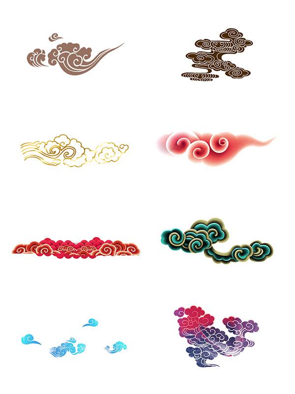 祥云素材,中国元素,传统花纹,传统素材,中国花纹,png格式,手绘祥云