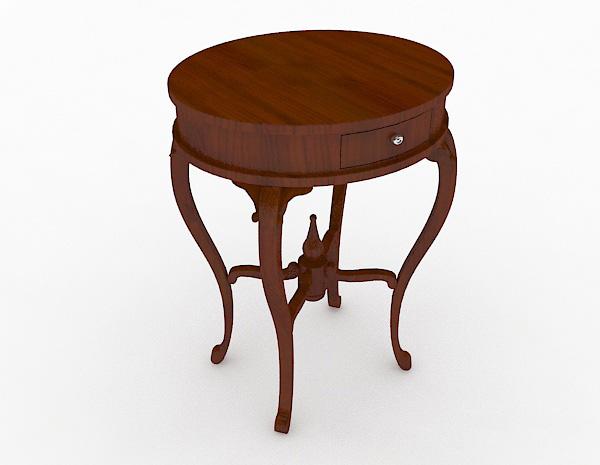 圆形梳妆桌模型