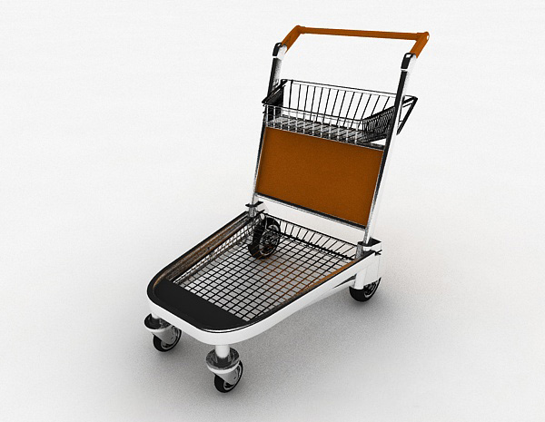行李搬运车模型