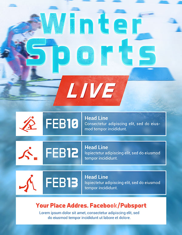 冬季运动会海报