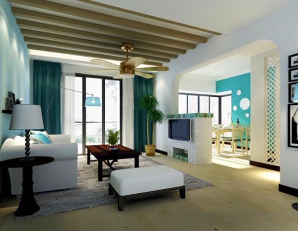 白色客厅模型