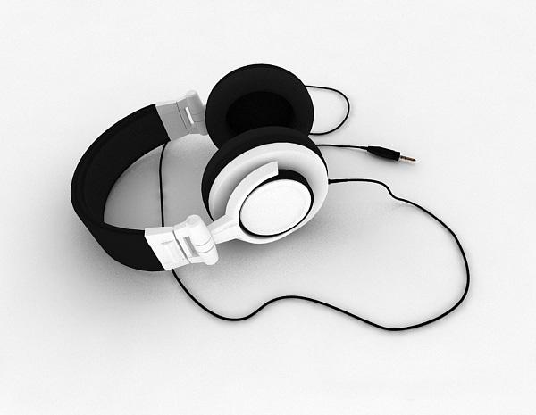 有线耳机模型