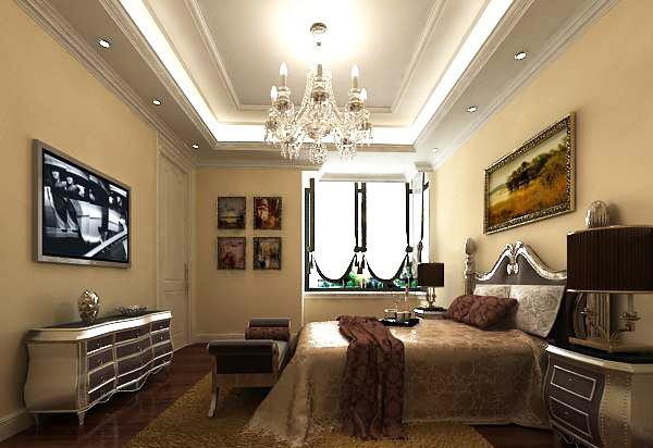 简欧风格卧室模型