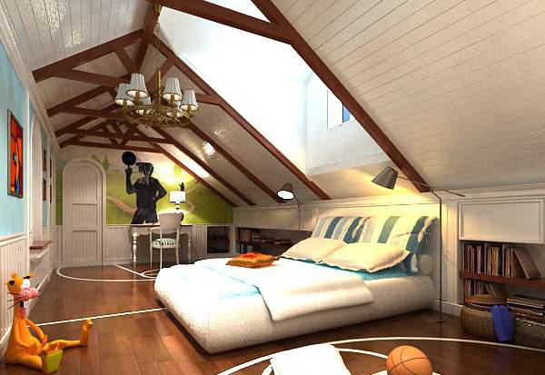 阁楼卧室模型