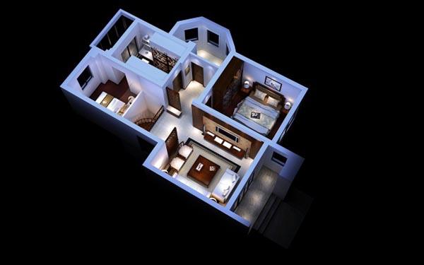 家装整体3d模型