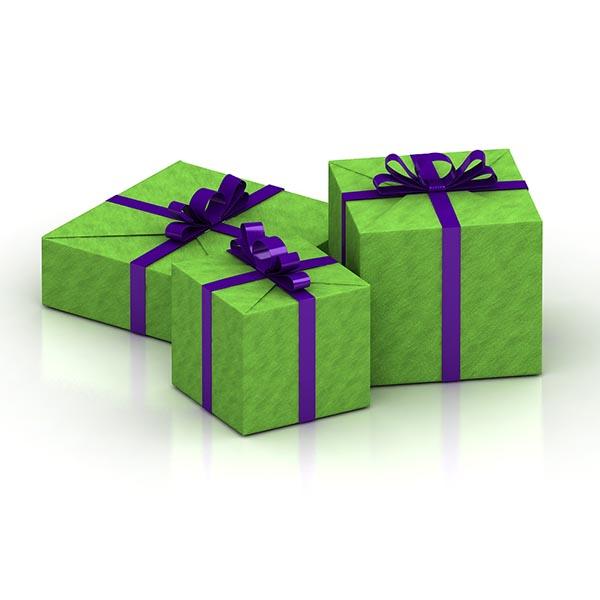 彩带礼品盒模型