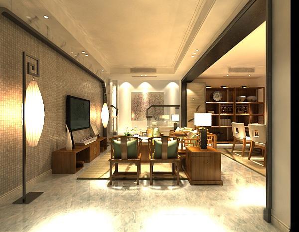 小型客厅模型