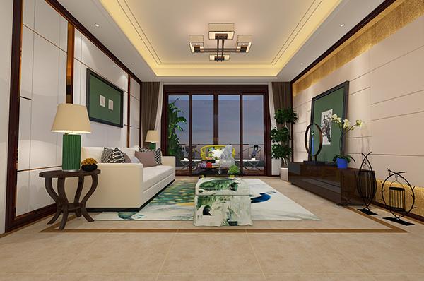 风格客厅模型