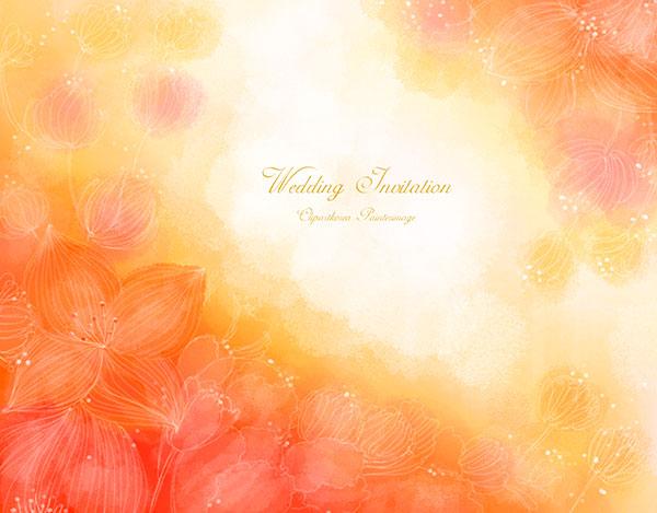 浪漫花朵插画