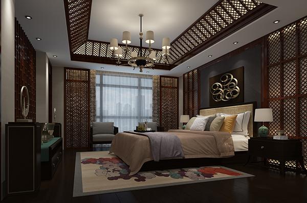 古典中式卧室模型