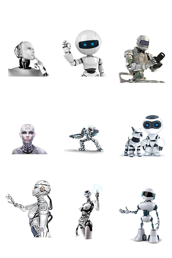 科技机器人素材