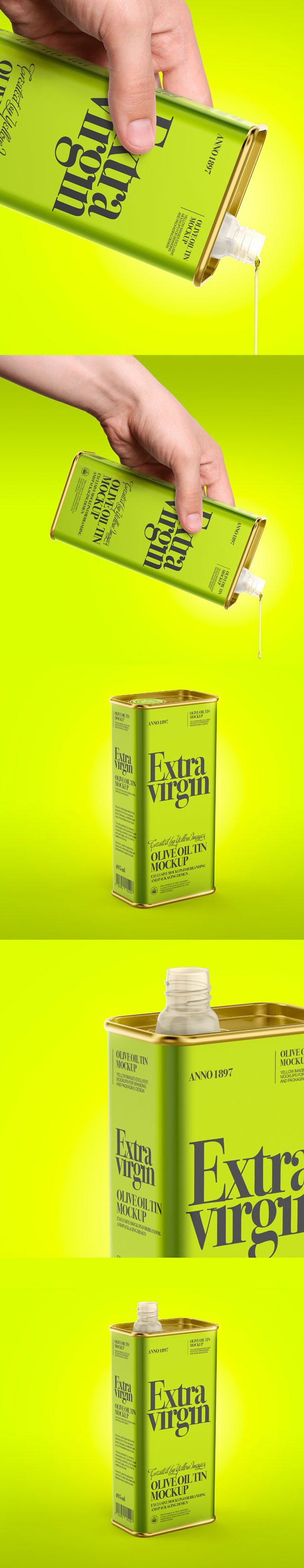 橄榄油锡罐样机