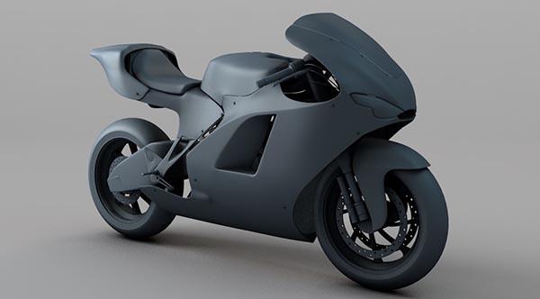 摩托车C4D模型