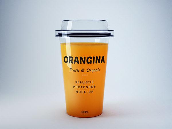 橙汁杯样机