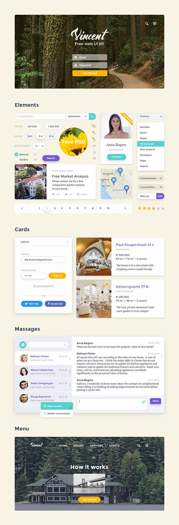 网站UI套件