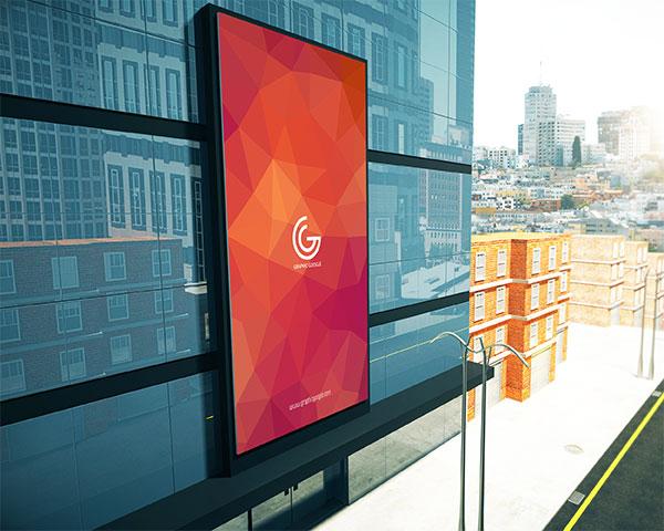 cis设计所需点数: 0 点 关键词: 大楼广告牌样机,广告牌样机,海报