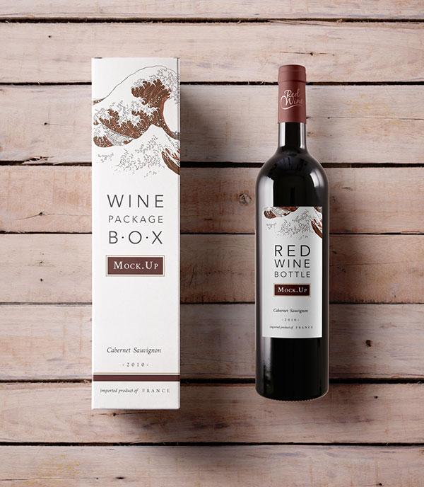 葡萄酒包装样机