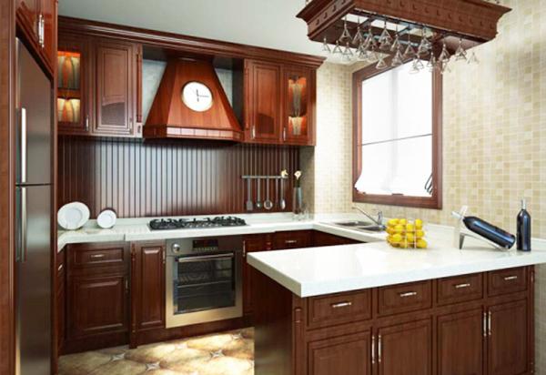 简欧厨房模型