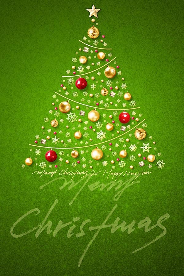 绿色圣诞树海报