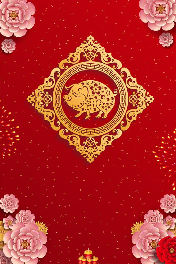 2019春节主题手绘海报