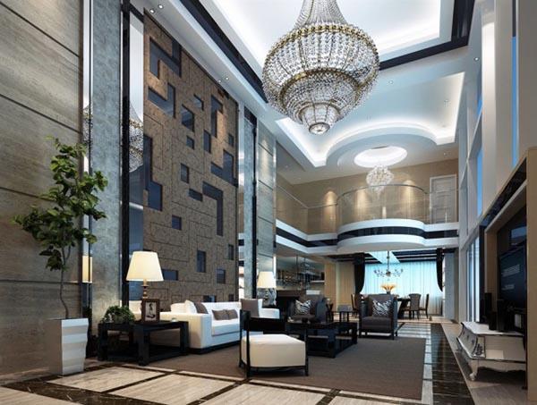 别墅现代客厅模型