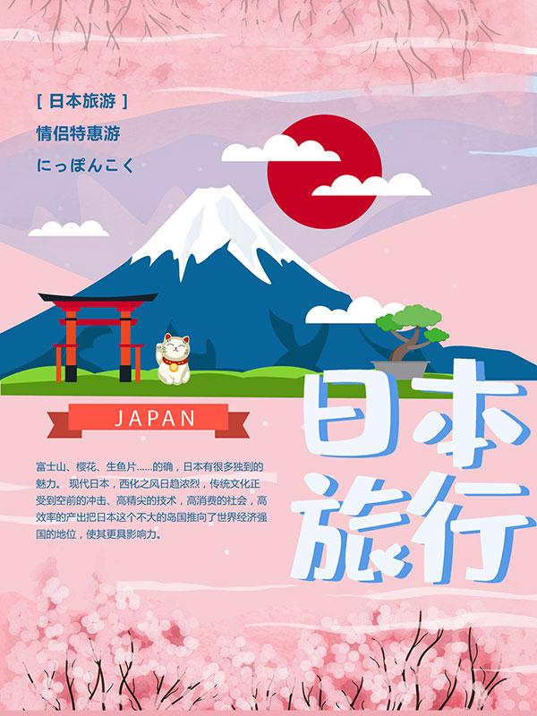 日本旅游特惠海报
