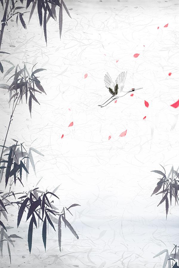 水墨竹子古风背景图片
