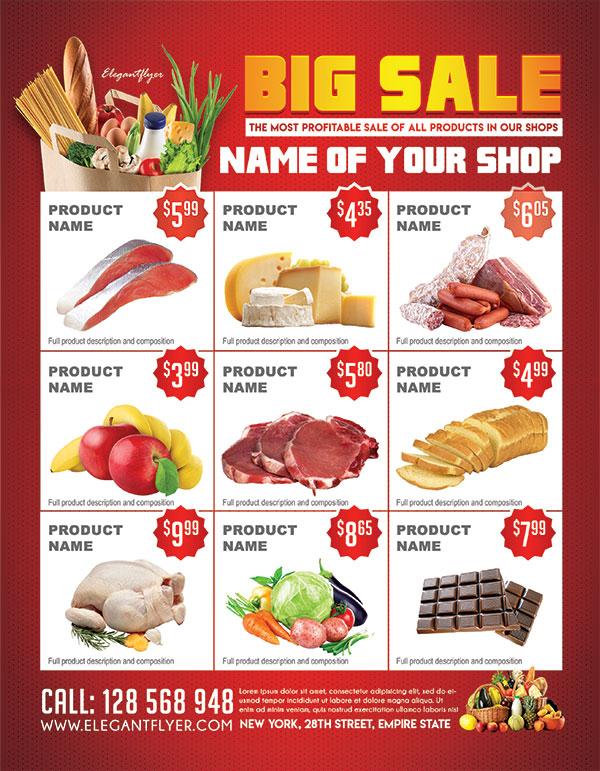 超市促销宣传单