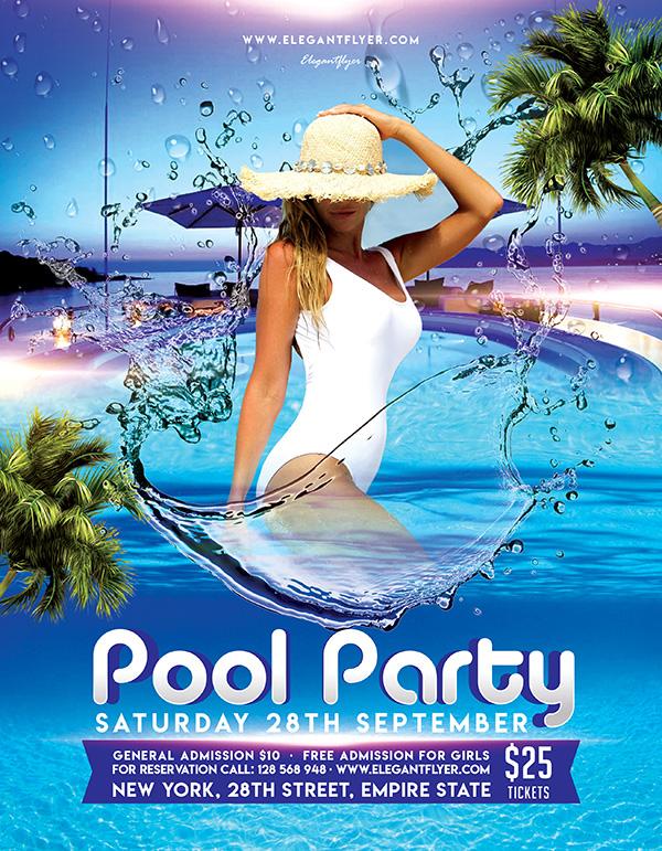 泳池派对海报