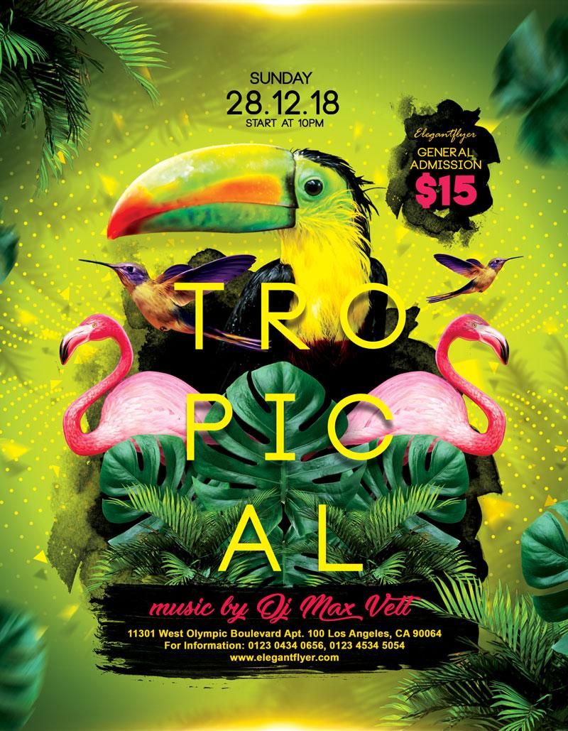 热带派对海报