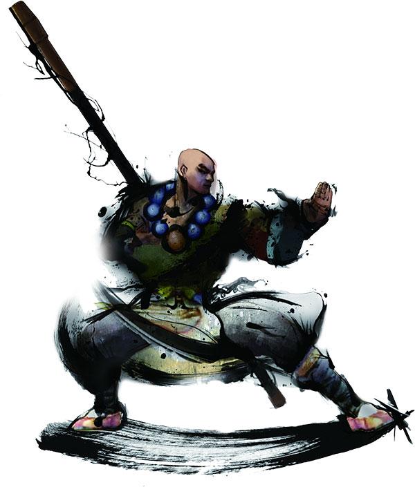 水墨武术人物