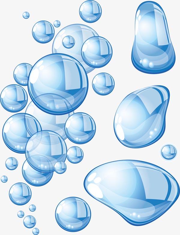 透明水滴圆润