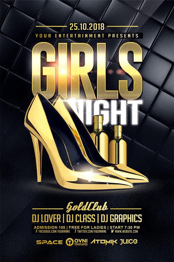 女孩之夜酒吧海报