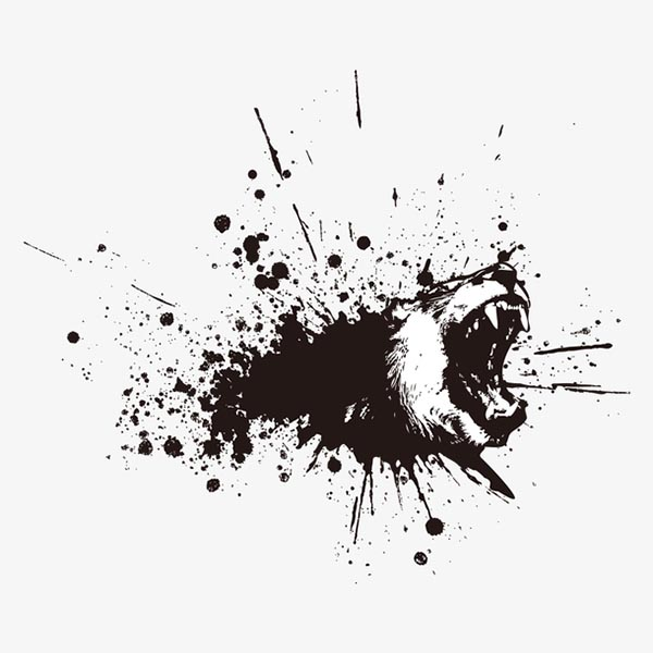 水墨动物印花