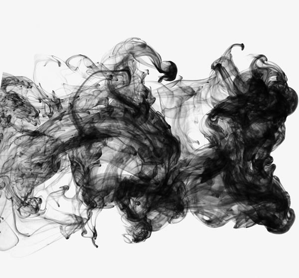 黑色水墨云雾