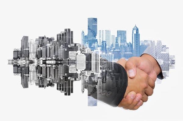 商务人士与城市