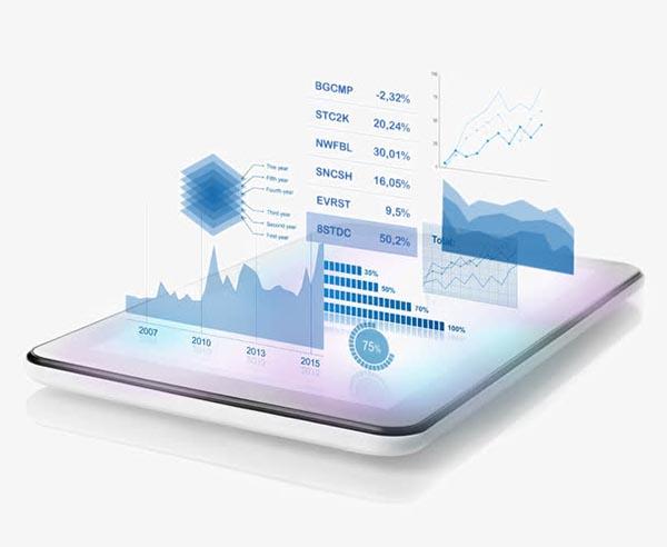 手机与信息图表