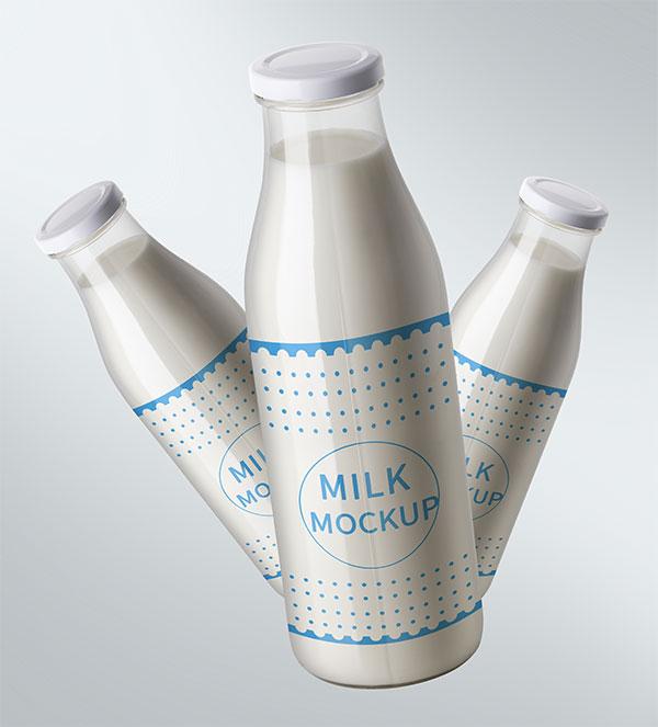 牛奶瓶包装样机