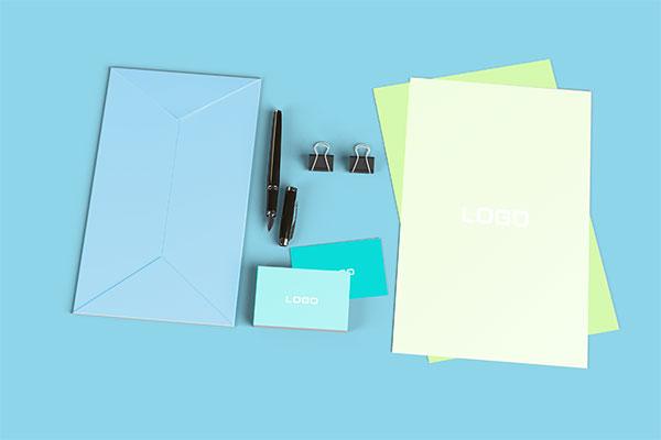 信封和名片样机