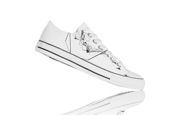 小白鞋图案样机