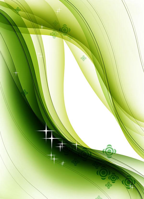 绿色曲线背景