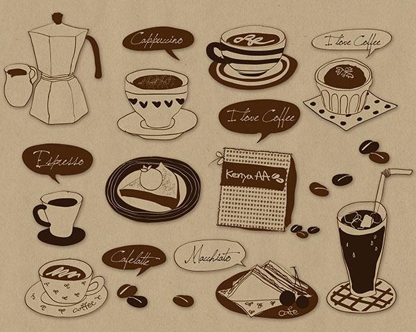 咖啡三明治主题