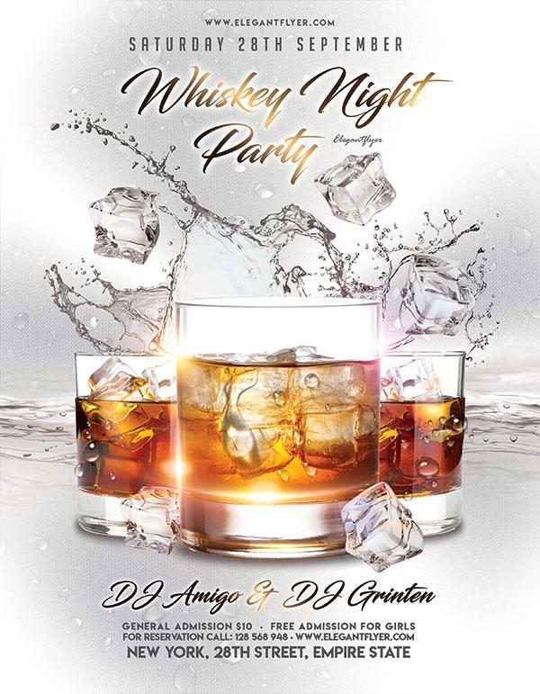 威士忌派对海报